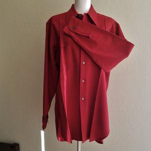 PENDLETON wool red button down shirt Size 16.5 EUC